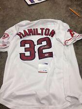 Josh Hamilton Texas Rangers Signed Autographed  LA Angels White Jersey PSA / DNA