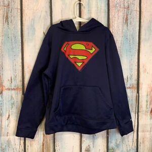 Under Armour Superman Hoodie Boys Size M