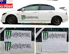 Monster Vinyl Graphics Car Door Side Protector Sticker Decal Racing Sport 60cm