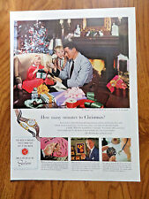 1953 Watchmakers of Switzerland Ad Art of the Swiss How Many Minutes Christmas?