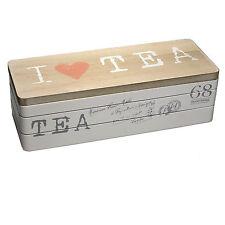 Teebox Teekiste Teedose Teebeutel I like Tee 3 Fächer