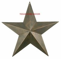 "17"" Metal Barn Star Rustic Copper Texas Tin Primitive Western Wall Decor"