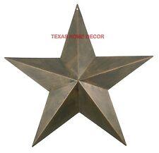 "17"" Metal Barn Star Rustic Copper Texas Tin Primitive Western Wall Decor"