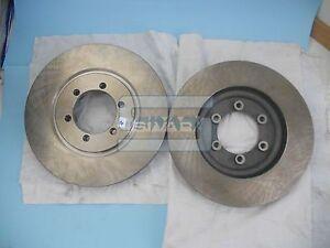Pair Front Brake Discs Ssangyong Rexton 4144108030 Sivar G043327E
