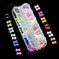 3D Glitters Bow Tie Butterfly Rhinestone Nail Art Tips Decorative DIY 60Pcs