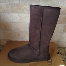 UGG Australia Classic Tall Chocolate Brown Suede Boots Size US 7 Womens NIB