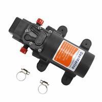 12V Diaphragm Water Pump Self-Priming Pump for RV Marine High Pressure w/ Clamps