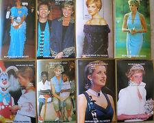 STAMPS. 8 SOUVENIR SHEETS. Niger. Princess Diana. Dresses, Elton John. Set 2