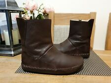 SHOFOLK REAL LEATHER BROWN BOOTS MENS SIZE UK10 EU44 GENUINE  GOOD CONDITION