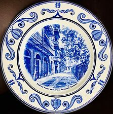 "Rare Crown Ducal ""Scenes of Old New Orleans"" 10""/26cm Ironstone Wall Plate"