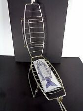 Fish Grill Grilling BBQ Basket Steel Standing Combrichon Made in France Camping