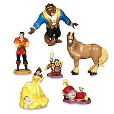 Disney Store Beauty and the Beast Figure Set Princess Belle Mrs Potts 2016