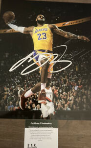 LeBron James Los Angeles Lakers Signed 8x10 Photo COA