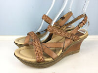 Earth Vista Alpaca Brown Wedge High Heels Womens Sz 10 B Medium Leather EUC