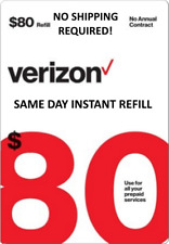 $80 Verizon Prepaid Fastest Online Refill > 25yr Usa Trusted Dealer <