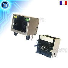 Connecteur RJ45 Blindé à souder 90° 8P8C, Fiche LAN, Prise Réseau Ethernet