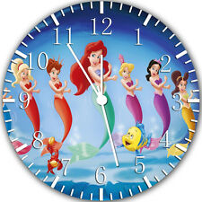 "Little Mermaid Ariel wall Clock 10"" will be nice Gift and Room wall Decor Y58"