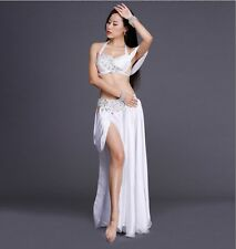 2016 Professional Belly Dancing Costumes Set Performance Diamond 2PCS Bra Skirt