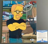 Adam Savage Autographed Mythbusters Simpsons 8x10 Photo Signed With Beckett COA