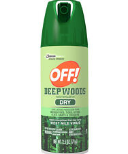 OFF! 2.5 oz Can DEEP WOODS Insect Repellent DRY SPRAY Travel Size DEET 25% New!