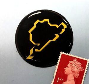 Nurburgring Sticker Super Shiny Domed Finish 40mm Diameter