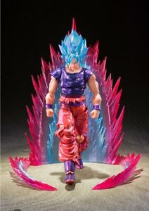 Bandai 2021 NYCC S.H. Figuarts Super Saiyan God Son Goku Kaio-Ken Action Figure