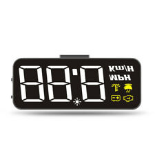 Voiture HUD Affichage Tête Haute Compteur de Vitesse Attention Projecteur GPS