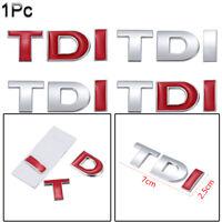 TDI Chrome  Emblem Badge 3D Auto Decal Car Sticker Trunk Lid  Vehicle Tailgate