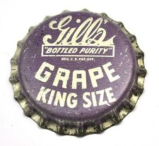 Vintage Gills Grape King-Size Soda Tapa de Botella EE.UU. Soda Botella Cap