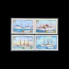 TUVALU, Sc #410-13, MNH, 1987, Ships, Transportation, CL128F