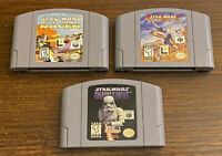 Star Wars Nintendo 64 N64 Shadows of Empire, Rogue Squadron, Episode 1 Racer