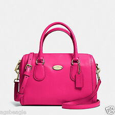 Coach Bag F33329 Crossgrain Mini Benett Satchel Pink Ruby Agsbeagle COD