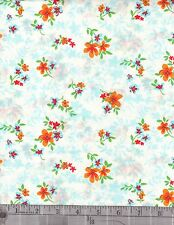 Cotton>sewing>quilting>fabric   2924   3632 blue mul floral     by the  yard