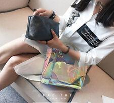 Teenage Girl Holographic Crossbody Shoulder Bag Shine Laser Bag With Leather Bag