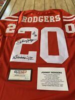 Johnny Rodgers Autographed/Signed Jersey TRISTAR Nebraska Cornhuskers Heisman