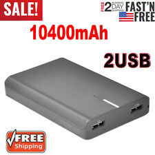 10400mAh Power Bank Dual USB Portable External Battery Backup Charger For Phone