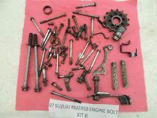 07 SUZUKI RMZ450 RMZ 450 RM-Z450 RM-Z ENGINE BOLT KIT MISC NUT BOLTS SPROCKET B
