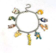 Pokemon Pikachu Anime Squirtle Cartoon Silver Plated Charm Bracelet Christmas 03