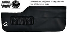 BLACK STITCH 2X FRONT LOWER DOOR CARD TRIM LEATHER COVERS FITS VW TYPE 3 T3
