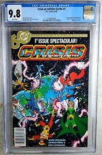 Crisis on Infinite Earths #1 NEWSSTAND D.C. 1985 CGC 9.8 NM/MT WPage Comic Q0013