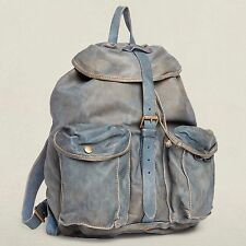 RRL Double RL Ralph Lauren Indigo Dyed Calfskin Backpack  Sold Out BNWT