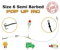 Size 6 Semi-Barbed Pop Up wire Trace --- Pike Fishing Dead Bait Rig