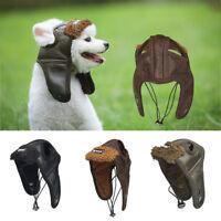 UK Winter Pet Dog Warm Windproof Helmets Cap Puppy Bike Motorcycle Hat Helmet