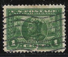 US Scott #397, Single 1913 Balboa 1c VF Used