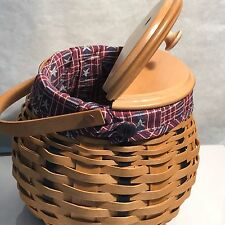 Longaberger 2003 Golf Club Basket Combo w/Unique Lid New
