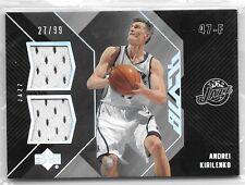 06 07 UD Black Andrei Kirilenko Dual Jersey #ed /99
