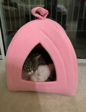 New listing Bed and House For Cat Indoor Pink Color Warm