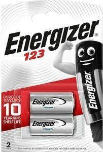 2 x Energizer CR123A 3V Lithium Battery 123 CR123 DL123 Camera Battery. 069