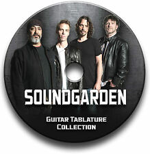 Soundgarden Rock Guitar Tab Tablatura canción libro CD de software