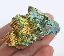196.4Ct Rainbow Bismuth Crystal Mineral Specimen Rough Heated YBK12